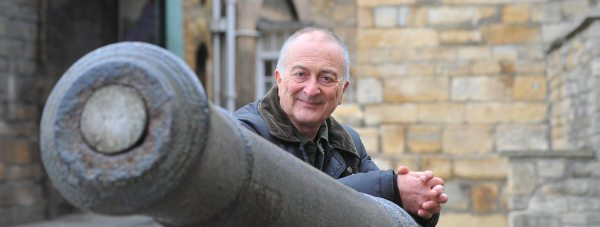 Sir Tony Robinson, Time Team presenter, at Lincoln Castle. Photo: LCC