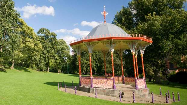 The bandstand in the Arboretum in Lincoln. Photo: CoLC