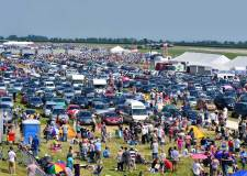 The view from the control tower of the northern half of the show. Photo: Steve Smailes for The Lincolnite