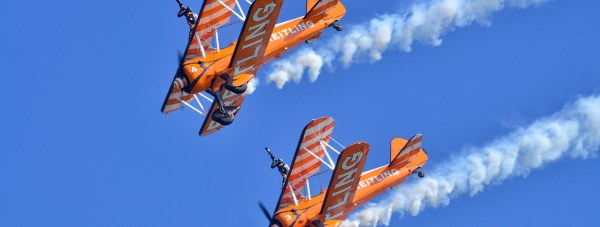The Breitling Wingwalkers carry out their daring display Photo: Steve Smailes for The Lincolnite