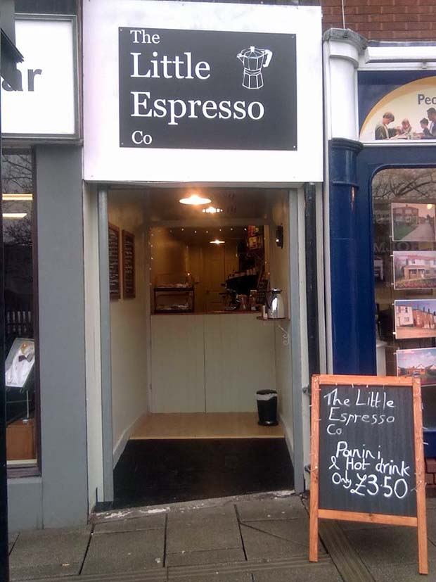 Lincoln's smallest coffee bar  on Silver Street.