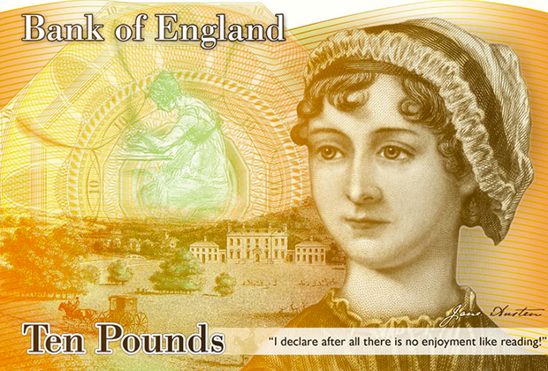 What the new Jane Auston £10 note is expected to look like.