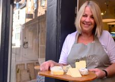 Owner of The Cheese Society Kate O'Meara at the retail store on The Strait in Lincoln. Photo: Steve Smailes for The Lincolnite
