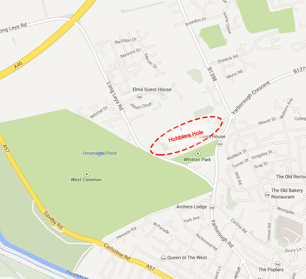 The proposed location for Hobblers Hole. Map: Google