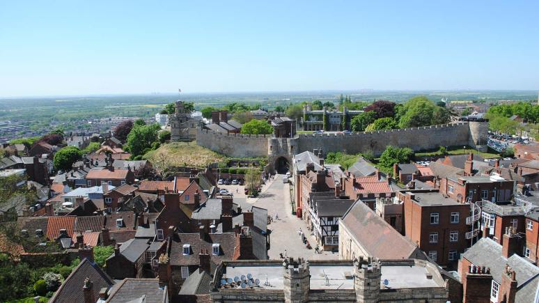 The view from St Hugh's turret at Lincoln Cathedral. Photo: File/The Lincolnite