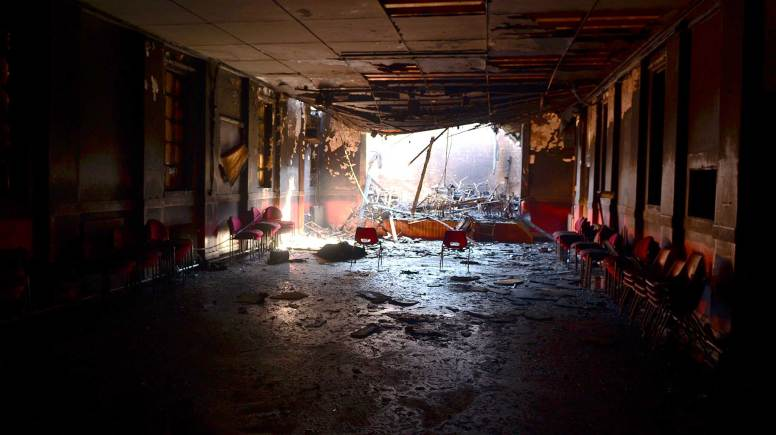 Fire damage at the Croft Street community centre in Lincoln. Photo: Steve Smailes for The Lincolnite