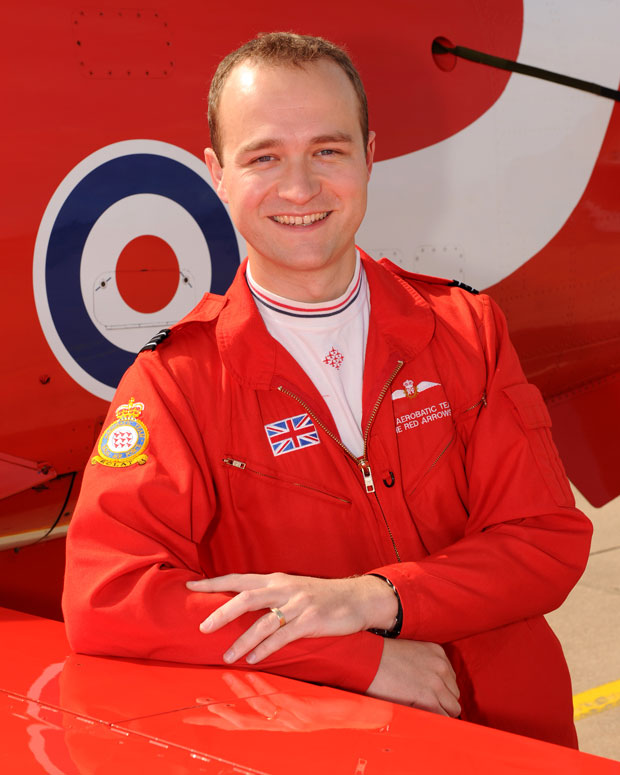 Flt Lt Joe Hourston, is joining the Red Arrows team for the 2014 season. Photo: Cpl Graham Taylor