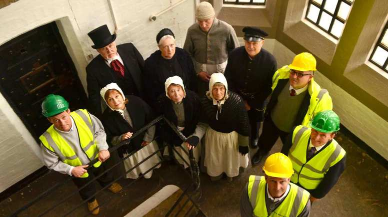 'Friends of Lincoln Castle' in period dress with Woodhead Heritage staff and County Councillor Nick Worth at Lincoln Prison. Photo: Steve Smailes for The Lincolnite