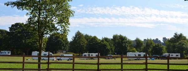 The group of eight caravans established a camp on the South Common towards the end of August 2013.