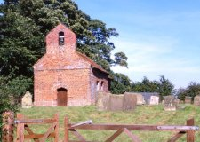 Exterior of St George's Church, Goltho, Lincolnshire, before it was destroyed by a fire in October 2013. Photo: Churches Conservation Trust