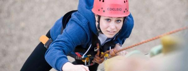 Climbing at a centre in Caythorpe. Photo: NCS EM1