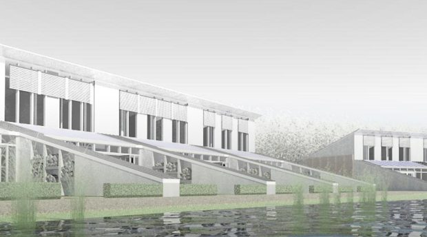 The designs of the eco homes at Lincolnshire Showground. Image: SGA Architects