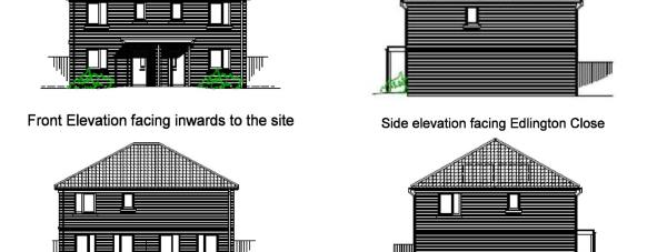 The designs of the new homes along Stapleford Avenue.