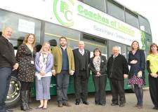 Improving transport in LN6: Stuart Traves (Cargill PLC), Chantelle Grundy (Access LN6), Jane Betts (Cargill PLC), Cllr Richard Davies, Peter Smith (PC Coaches), Suzanne Traynor (PC Coaches), Darren (PC Coaches), Vanessa Strange (LCC) and Laura Markwell (Access LN6)