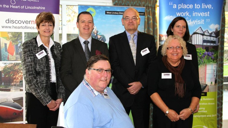 The 2013 Transforming Tourism Conference, in Lincoln, was a partnership event highlighting the Lincolnshire tourism landscape. Pictured: Sally Porter from North Kestevan District Council, Jason Freezer from VisitEngland, Arnold Fewell from AVF Accessibility, Chris Baron from Greater Lincolnshire LEP, Marian Thomas from West Lindsey District Council, Emma Tatlow from VisitLincoln. Photo: Emily Norton