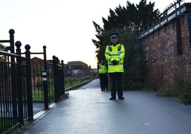 Police guarding the entrance area of the scene. Photo: File/The Lincolnite