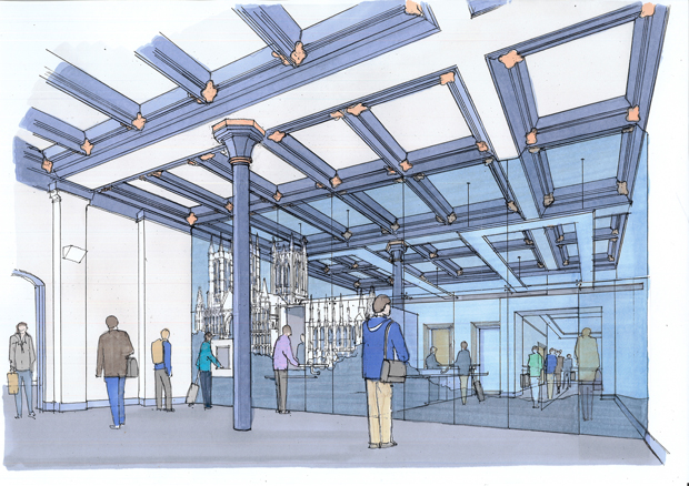 Passengers at Lincoln Station will benefit from a bigger, brighter booking hall. Here's what it will look like.