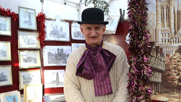 John Bangay has been a stall holder at the Lincoln Christmas Market for 31 years. Photo: Emily Norton