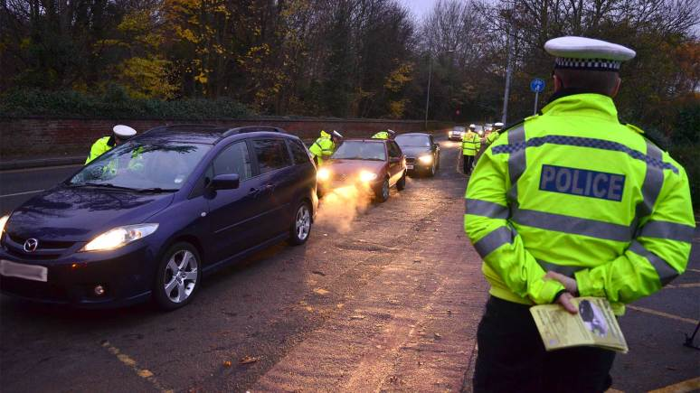 Lincolnshire Police conducting breath tests as part of their annual drink driving campaign. Photo: Steve Smailes for The Lincolnite