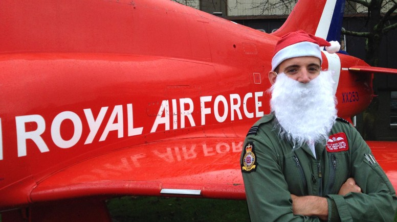 Red Arrow pilot Stewart Campbell will be running in the Lincoln Santa Fun Run under the number 2.