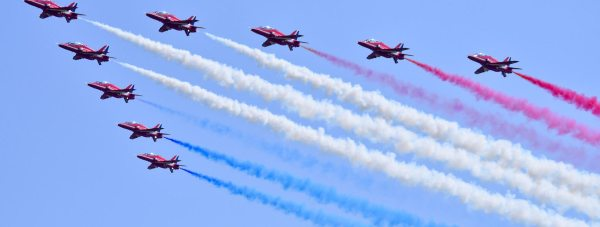 The Red Arrows at the Waddington Air Show 2013. Photo: Steve Smailes for The Lincolnite