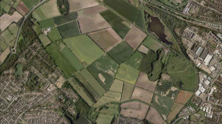 The Western Growth Corridor between Boultham and Birchwood is a 320-hectare site — around 10% of Lincoln's size.