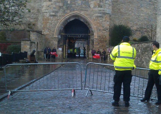 Lincoln Castle was closed until 5pm due to safety concerns.