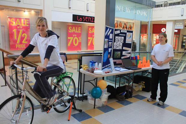 Perhaps you saw the Lincolnshire Sport Team at Waterside on Thursday 9 as they served smoothies with an exercise bike.