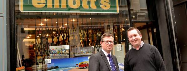 Banks Long & Co Director James Butcher and Elliott's owner Richard Turner.