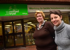 Shop Supervisor Wendy Kirman (L) with store manager Sheena Temple (R) at the opening of the new store. Photo: Steve Smailes for The Lincolnite