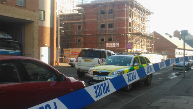 Police cordoned off the scene on February 26, 2014.