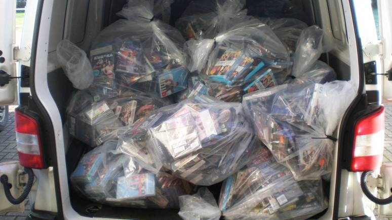 The fake DVDs stash confiscated by Lincolnshire Trading Standards