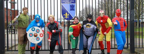 The Maths Department superheroes. Photo: Di Pyper