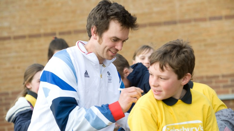 Children competing in the games were inspired by tales from Olympic gold medalist Tim Baillie. Photo: Chris Vaughan