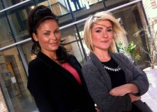 The duo behind new Lincoln modelling agency USN Models (L to R) Nicola Willoughby and Shaunna East.