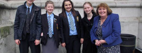 L-R: Andy Tallon, Rachel Lawson, Anna Peachman, Emily Watts and teacher Carole Lymn.