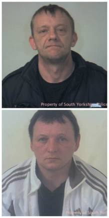 Stephen Berry and Stephen Shaw. Photo: South Yorkshire Police