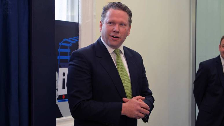 Lincoln MP Karl McCartney attended to officially open the new office.