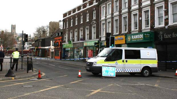 Lincoln High Street closed for police investigations on April 9, 2014.