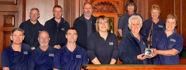 The Lincoln Street Pastors were presented with the Civic Award at a ceremony in the Guildhall on April 16. Photo: CoLC