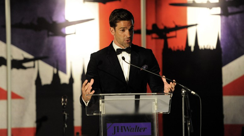 Guest TV star Gethin Jones presented the evening's events. Photo: Stuart Wilde