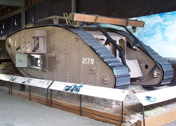 The Mark IV tank at the Museum of Lincolnshire Life in Lincoln