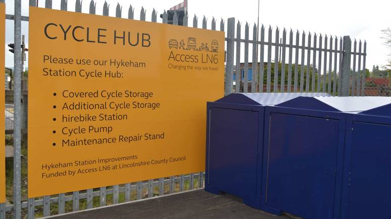 Sheltered cycle storage. Photo: LCC