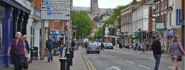 Lincoln High Street. File: The Lincolnite