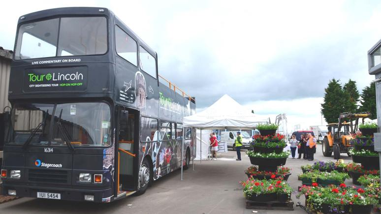 The Lincoln tour bus will also be at the Lincolnshire Show this year. Photo: Steve Smailes for The Lincolnite
