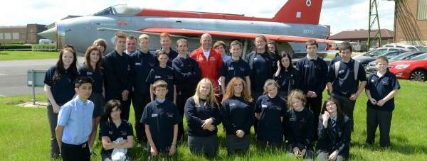 Level 1 students on the Jon Egging Trust Blue Skies programme graduated with flying colours. Photo: Stuart Wilde