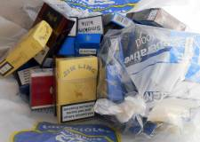 Seized cigarettes, which include illegal brands. Photo: Trading Standards