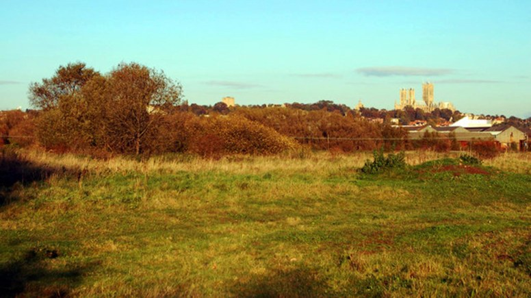 The former Swanpool landfill site in Lincoln. Photo: John Bennett/Geograph