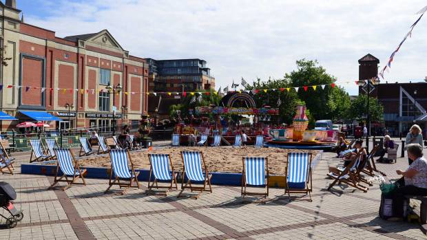 The beach is located on City Square. Photo: Steve Smailes for The Lincolnite