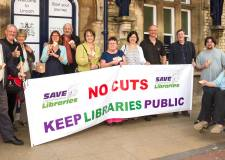 Campaigners with their London train tickets ahead of the Lincolnshire libraries judicial review. Photo: Save Lincolnshire Libraries